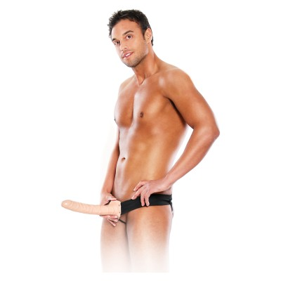 10 Inch Hollow Strap-On Light skin tone