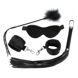 BDSM 4 delige Set - Black Velvet