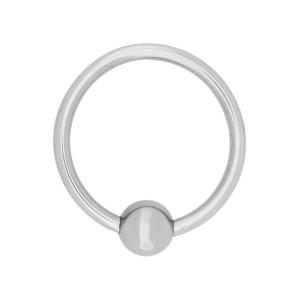 Acorn Ring 30 mm Silver