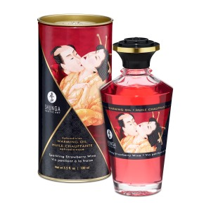 Aphrodisiac Warming Oil 100ml Strawberry