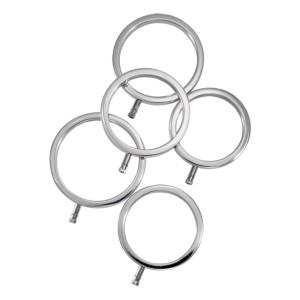 ElectraStim - Solid Metal Cock Ring Set 5 Sizes