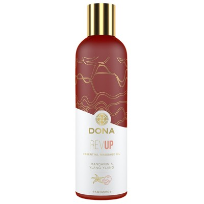 Dona - Essential Massage Olie Rev Up Mandarijn & Ylang Ylang 120 ml