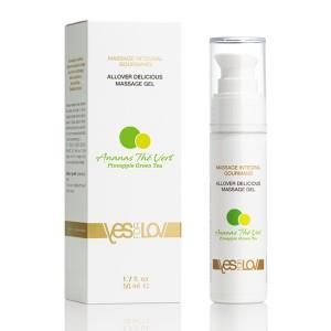 YESforLOV - Allover Delicious Massage Gel Pineapple Green Tea
