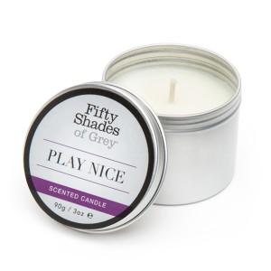 Fifty Shades of Grey - Play Nice Vanille Kaars 90 gram
