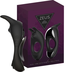 FeelzToys - Zeus Dual Vibe Penisring Zwart